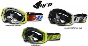 UFO MASCHERA OCCHIALI 100% STRATA 2 TRASPARENTI OFFROAD MOTO CROSS ENDURO