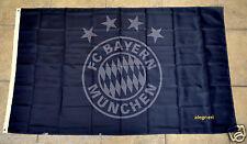 Bayern Munich Flag Banner 3x5 ft Germany Soccer München All Black