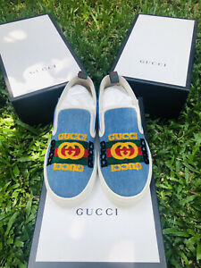 Gucci Kura denim sneakers
