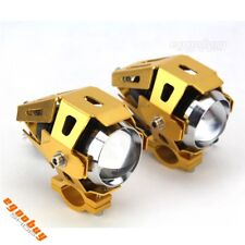Motorcycle Universal Golden U5 LED Driving Fog Spotlight Headlight Projector Hot