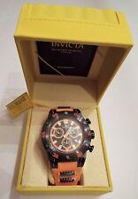 Invicta 19850 Speedway Mens Chronograph Orange Rubber Strap Watch New Box & tags
