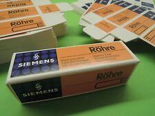 25 x Vintage Siemens Halske Carton Box for Radio Tubes Ecc83 El84 Ecc803S E188Cc