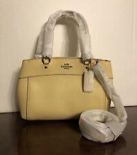 Coach Mini Brooke Carryall Leather Crossbody Bag VANILLA  F25395 NWT $350