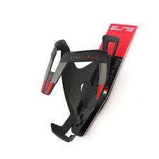 Elite Vico Fibra de Carbono Bicicleta de Carretera Bicicleta Botella de agua jaula-Mat Negro X rojo