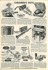 1956 ADVERT Gene Autry Cowboy Guitar Big Jim Electric Magnetic Toy Crane Tractor
