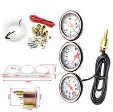 52mm/2inch 12V Gauge Kit Water Temp Voltage Oil Pressure Triple Car Meters Kits