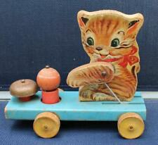 New ListingRare Vintage Fisher Price Kitten Pull Toy with bell#499 1950s