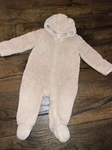 Baby Gap Sherpa Fleece Bear Pram Suit 6-12 Months