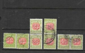 Stamps Australia Postage Dues Pairs x 4 Good Used /Fine Used 1d to 4d