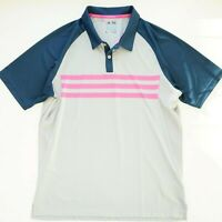 Adidas Mens Polo Shirt ClimaCool Blue Short Sleeve Solid Golf Size Large
