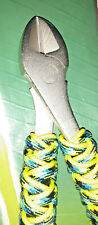 FISHING 7 inch BIG HEAD DIAGONAL CUTTER CUSTOM TURKS HEAD WRAP, BRIGHT COLORS