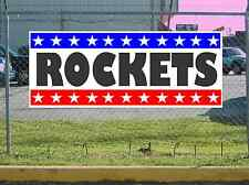 Stars & Stripes ROCKETS Banner Sign NEW 2X5