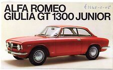 Alfa Romeo Giulia 1300 GT Junior 1967-69 UK Market Foldout Sales Brochure