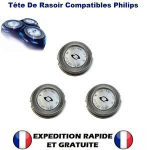 3X Tête De Lame de Rasoir Compatibilité Philips Norelco HQ4 HQ58 HQ56 Razor Head