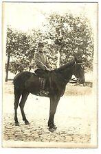 Photo ancienne Militaire à cheval
