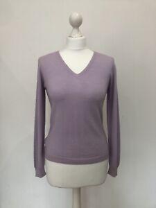 Pretty Hawico Ladies Lilac New Wool V Neck Jumper, Size small