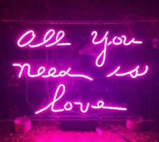 "ALL YOU NEED IS LOVE Home Room Lamp Sofa LED Bike Harley NEON Light Sign 14""x10"""
