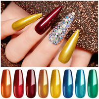 6Pcs/Set Christmas Metallic UV Gel Nail Polish Soak Off Nail Varnish Manicure US