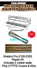 Weston Pro 2300 Vacuum Sealer Maintenance Kit (2)Seals (3)Teflons & wire element