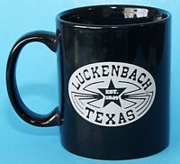 Luckenbach Texas Ceramic Cup Mug Est. 1849 M Ware Black and White VGC