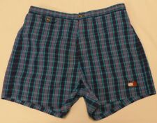 Vintage Tommy Hilfiger Tommy Trunks Plaid Swim Shorts Flag Size Extra Large XL