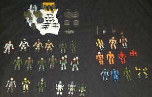 LARGE Lot - Halo Mega Bloks UNSC Forces MiniFigures & Weapons