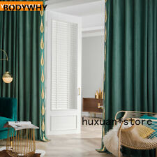 Curtains  American Bedroom Thick Green Velvet Cloth Blackout Curtain Tulle Drape