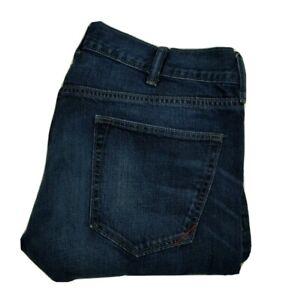 Banana Republic Men's Jeans 38x30 Vintage Straight Fit Blue Distressed Denim