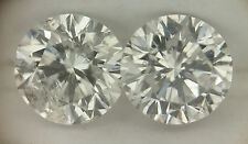 .36cttw, I1-I2, G/H, Matched Pair of White Round Loose Diamonds