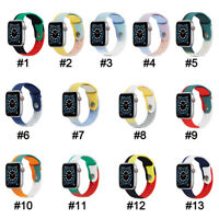 Youth Color Silicone Band Strap For Apple Watch 6 5 4-1 iWatch SE 38/40/42/44mm