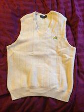 BOBBY JONES Masters Augusta Womens Golf Vest Sz Large Yellow Alpaca Wool