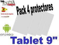 """Pack 4 Protectores Universales pantalla para Tablet de 9"""" 9 pulgadas Universal"""