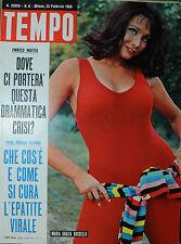 TEMPO N°08/ 23.FEB.1966  MARIA GRAZIA BUCCELLA - GIANCARLO GIANNINI - MARA MARYL
