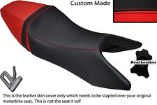 BLACK & RED CUSTOM FITS YAMAHA SZR 660 96-01 DUAL LEATHER SEAT COVER