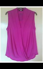 New Look Purple Wrap Front Sleeveless Top Size 10