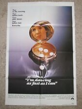 I'M DANCING AS FAST AS I CAN ORIGINAL MOVIE POSTER 1982 JILL CLAYBURGH VALIUM