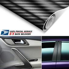 2X 3D Car Interior Accessories Panel Black Carbon Fiber Vinyl Wrap Sticker 18911