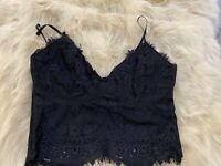 Amisu black lace Camisole Top sleepwear nightwear size S