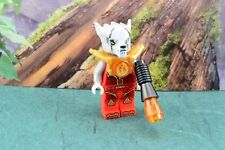 Lego Mini Figure Legends of Chima Worriz Fire Chi with Armor 2-Sided Head 70145