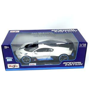 Maisto Bugatti Divo White Black & Blue 1/18 Scale Diecast Special Edition
