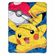 The Northwest Company Pokemon Go Pikachu Micro Raschel Blanket, 46 by 60-Inch