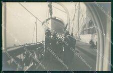 Napoli città Savoia Regia Nave Trinacria foto cartolina XB3722