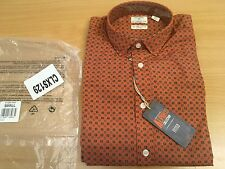 DOCKERS MEN'S ALPHA LONG SLEEVED SHIRT ORANGE SMALL NEW RRP £70