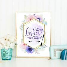 Eyelashes Quote, Makeup Print, Home Decor, Beauty Wall Art, Good Mood, Cosmetic