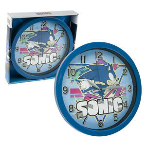 """Sonic the Hedgehog 9.5"""" Round Wall Clock in Open Window Box"""