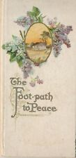 1911 The Foot-Path to Peace Lithographed Gift Book, Henry Van Dyke Poetry