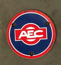 AEC MELAMINE BUS TRUCK LORRY COMMERCIAL TRANSPORT HUB DISK BADGE EMBLEM