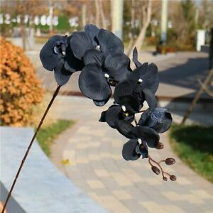 Black Silk Butterfly Orchid Artificial Flower Fake Flowers Wedding Home Decor