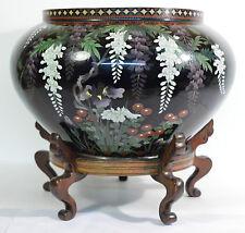 A large 19th century Japanese Meiji period cloisonné Jardinière good condition