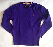 NWT Mens Polo Ralph Lauren Thermal Waffle Crewneck Long Sleeve Shirt 20+ Colors